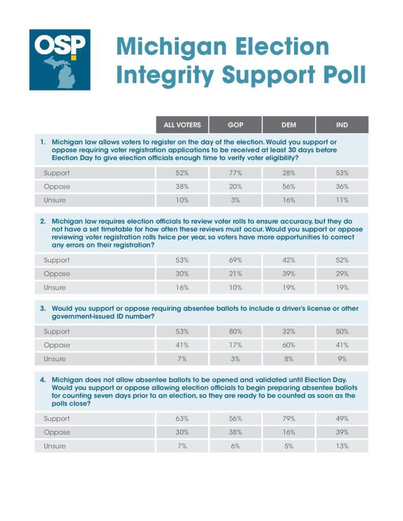 michigan election integrity